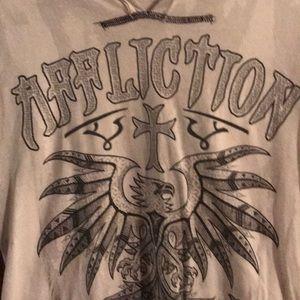 AWSOME Affliction T-Shirt Sz Lg